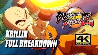 KRILLIN - Combos, Specials & Breakdown: DragonBall FighterZ (4K HD)