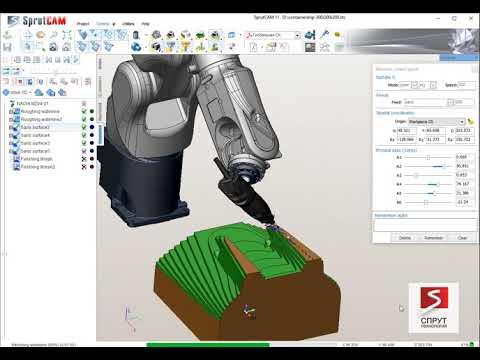 Nachi offline programming with SprutCAM Robot