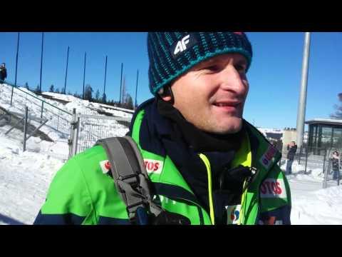 Trener Maciej Maciusiak ocenia drugi konkurs PK w Zakopanem 14.02.2016