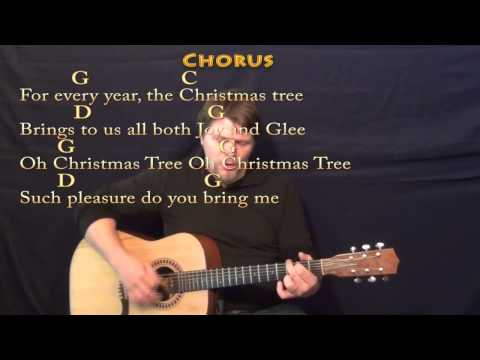 Oh Christmas Tree (CHRISTMAS) Strum Guitar Cover Lesson in G with Chords/Lyrics