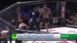 Emelianenko Jr TKOs Guelke in first cage fight