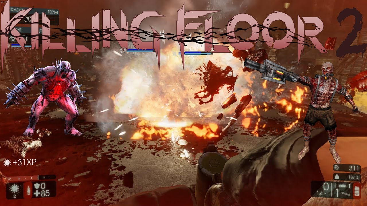 Explosions and zombies killing floor 2 1 youtube for Killing floor zombies
