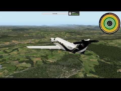 X-Plane 10 Zurich to Geneva
