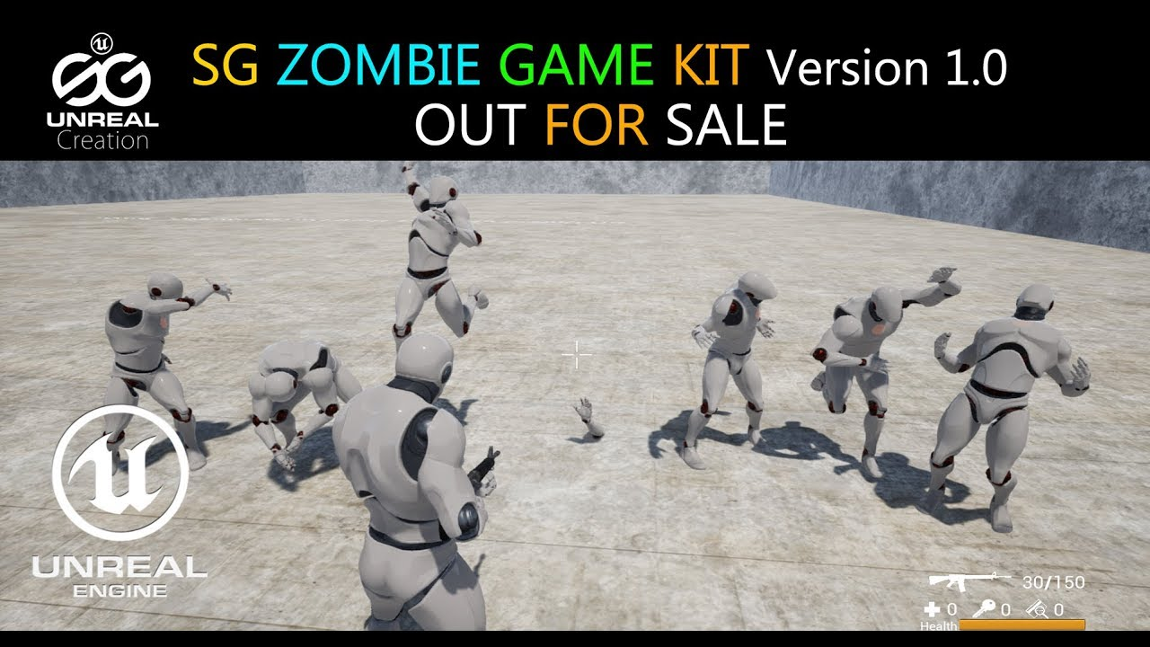 🎮 Unreal Engine SG ZOMBIE GAME KIT Ver 1 0