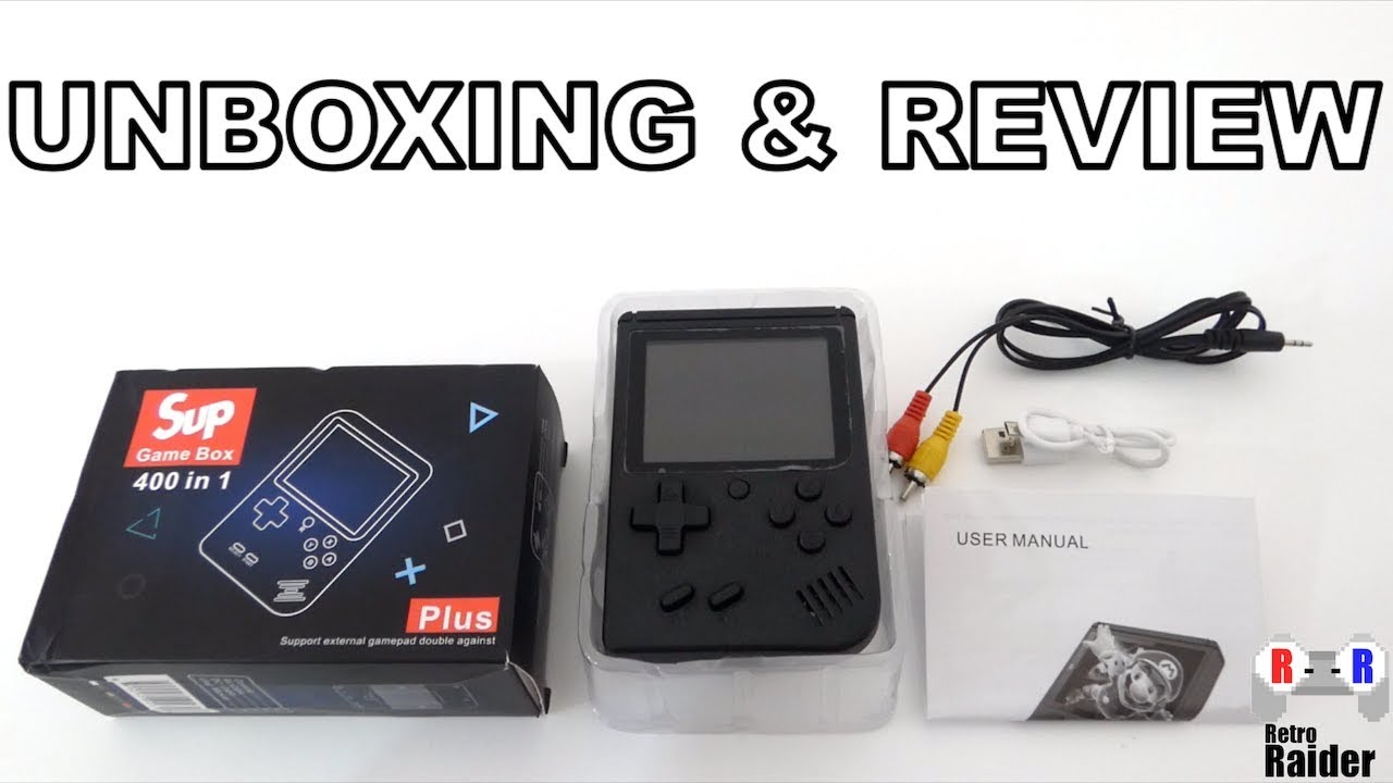 Sup Retro Game Box 400 In 1 Unboxing Review Retro Raider Youtube