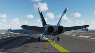 DCS World 2.5.2: F/A-18C CASE I Landing  (1440p)