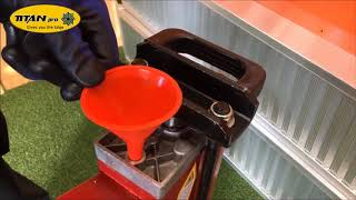 Electric Log Splitter Hydraulic Oil Check - How-To from Titan Pro