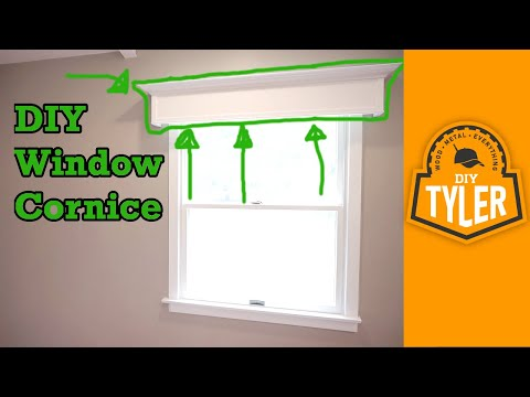 Simple DIY Window Cornice