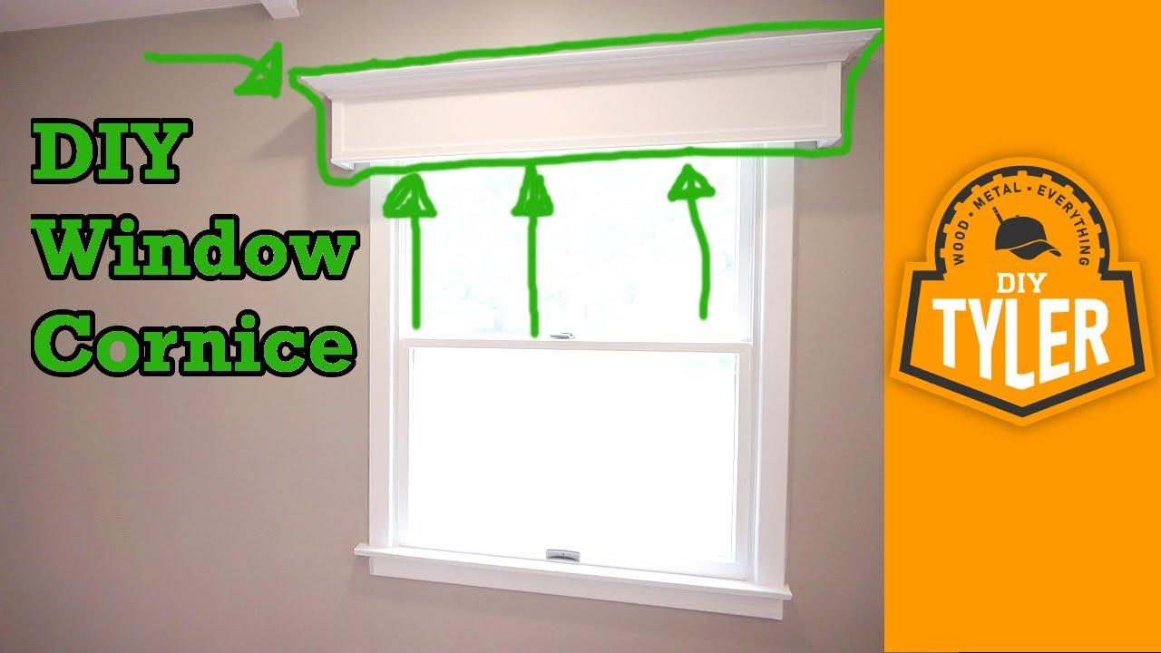 Simple diy window cornice youtube simple diy window cornice solutioingenieria Images