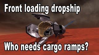 Front loading space cargo dropship - Antonov style - Kerbal Space Program