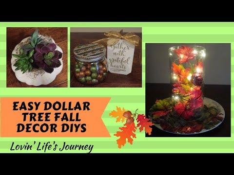 Fall Decor on a Budget - Easy Dollar Tree DIYs for $5 or less!!