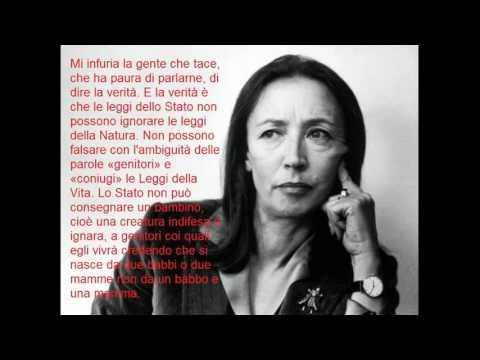 Oriana Fallaci, sulle adozioni gay - LGBT adoption (manortiz)