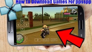 How To Download Games In PPSSPP Emulator [PSP]  2019