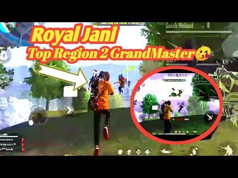 Free Fire Singapore Region Top 2 player Royal Jani
