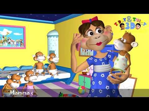 Five Little Monkeys Jumping On The Bed KARAOKE - Children's Song/Nursery Rhyme for Kids   #part 20