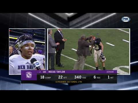 Reese Taylor says Ben Davis made a statement in 6A championship game