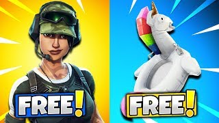 10 FREE ITEMS TO UNLOCK IN FORTNITE! (Fortnite Battle Royale)