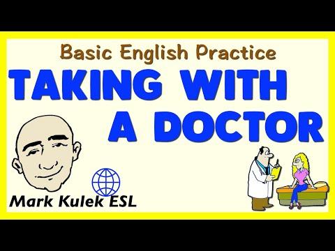 Visiting A Doctor | Basic Conversation Practice | ESL | EFL