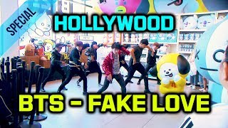 [KPOP IN PUBLIC | BT21 Grand Opening] BTS (방탄소년단) - Fake Love Dance Cover Line store in Hollywood LA