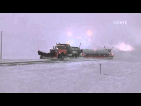 NDDOT - Sharing the road with snow plows - YouTube