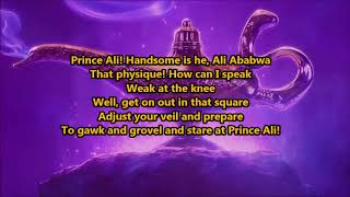 Will Smith- Prince Ali (From Aladdin) (Lyrics) {HeyLyrics}