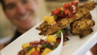 Coconut Chicken With Strawberry & Mango Salsa