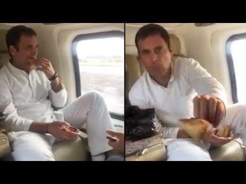 Rahul Gandhi Eating Samosa | Rahul Gandhi Latest Facebook Live Video | TFPC
