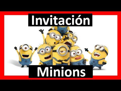 Invitación De Los Minions Personalizada