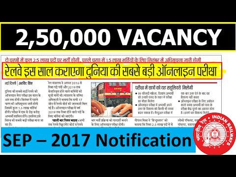 Railway 2,50,000 Vacancy News @Published in Hindustan Hindi Paper (REAL or FAKE ??)