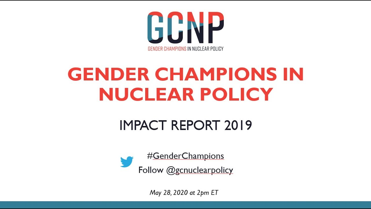 Download Gender Champions in Nuclear Policy 2019 Impact Report Launch