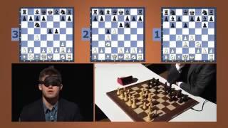 Шахматное шоу. Карлсен играет вслепую