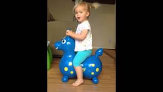 Baby on Bouncy Horse