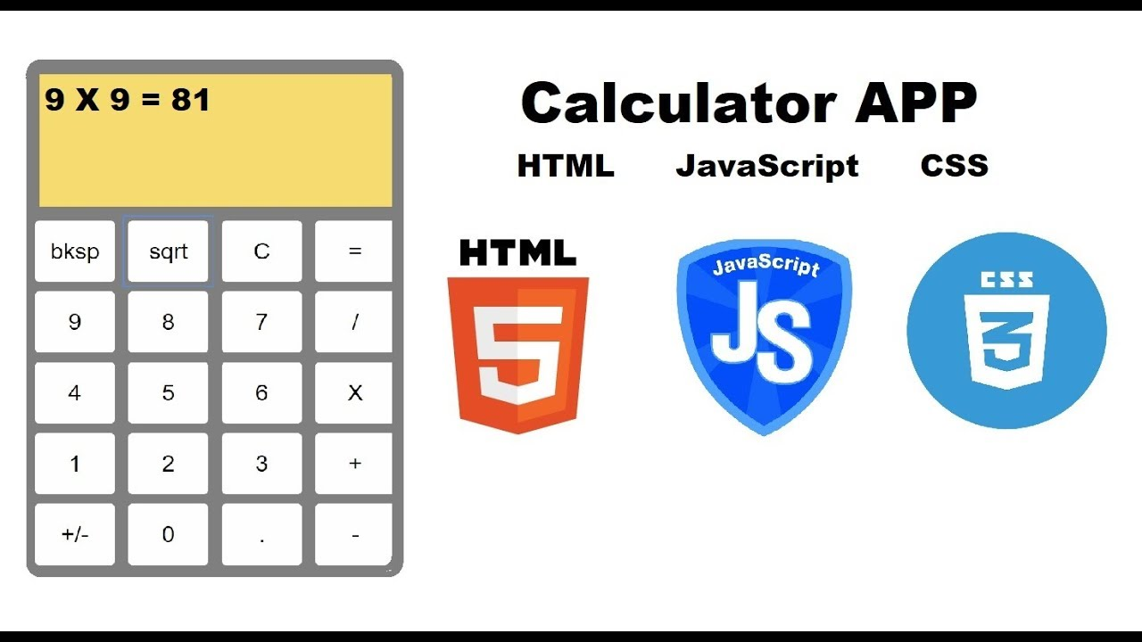 Basic calculator app in HTML with CSS and JavaScript - part 1