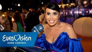 ESC 2019: Jonida Maliqi aus Albanien auf dem Orange Carpet  | Eurovision Song Contest | NDR