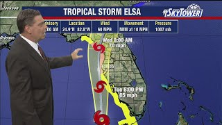 Tropical Storm Elsa Tuesday afternoon forecast update