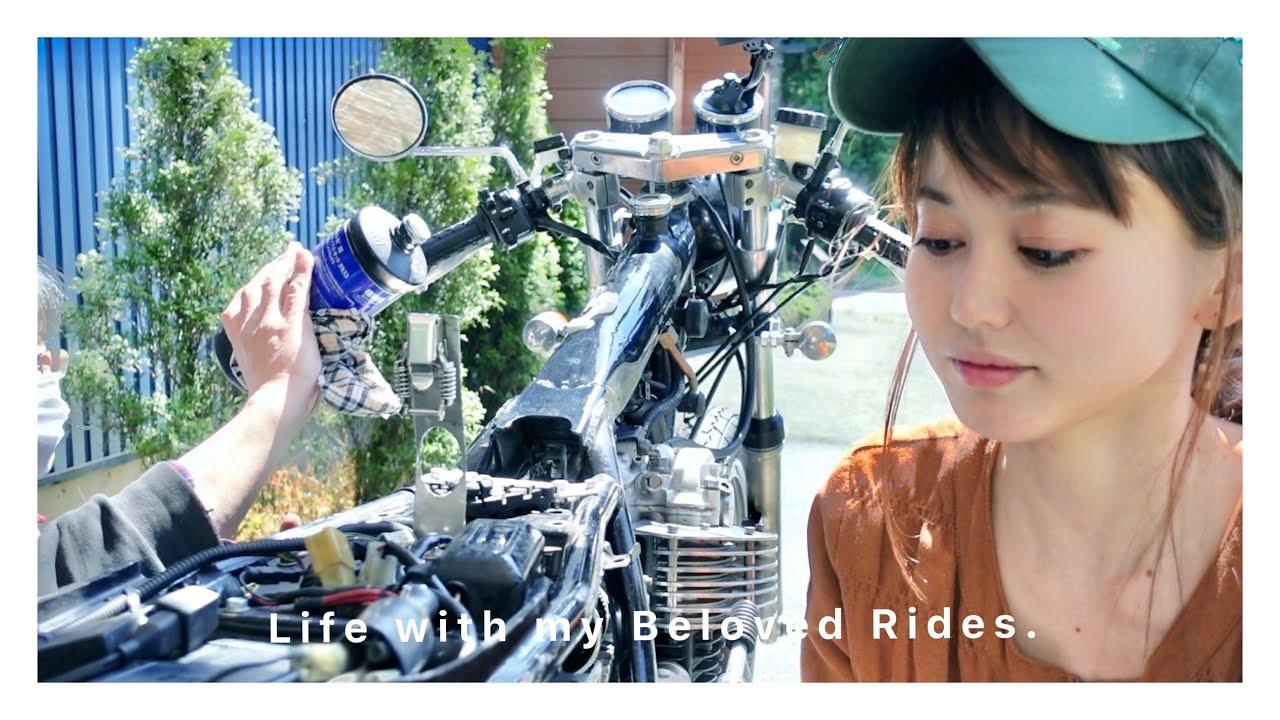 結婚したらバイク趣味は諦めなければいけないのか?SR磨き職人、作業映像。