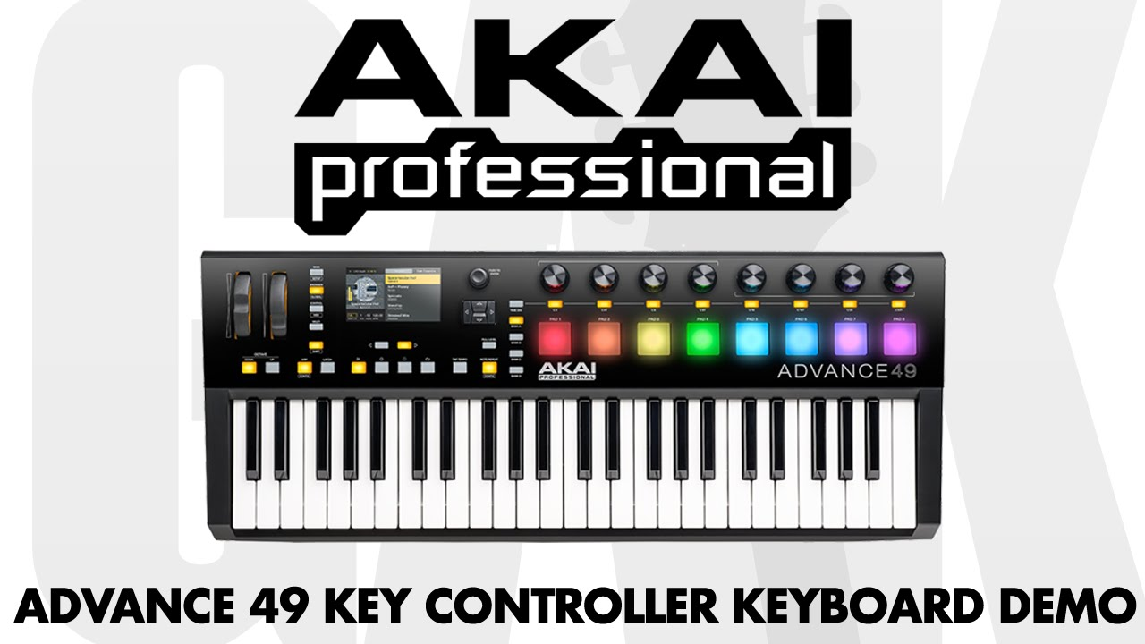 akai advance 49 key controller keyboard akai advance 49 demo review youtube. Black Bedroom Furniture Sets. Home Design Ideas
