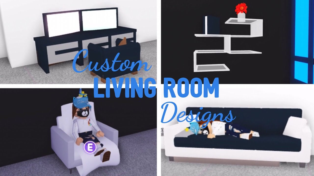 10 Custom Living Room Design Ideas Building Hacks Roblox Adopt Me Its Sugarcoffee Youtube