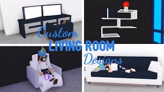 10 Custom LIVING ROOM Design Ideen & Gebäude Hacks (Roblox Adopt me) | Sein SugarCoffee