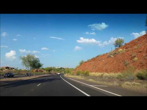 Driving through Scottsdale and Fountain Hills