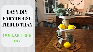 3 TIERED TRAY / DOLLAR TREE FARMHOUSE DECOR/  DECORATE WITH ME