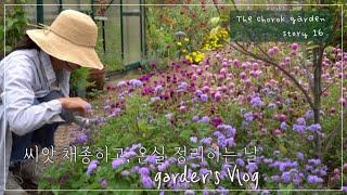 씨앗 채종하고, 온실 정리하는 날/정원속온실/가드너의공…