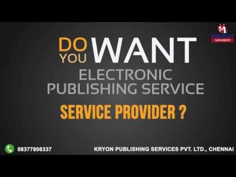 Electronic Publishing Service by Kryon Publishing Services Private Limited, Chennai