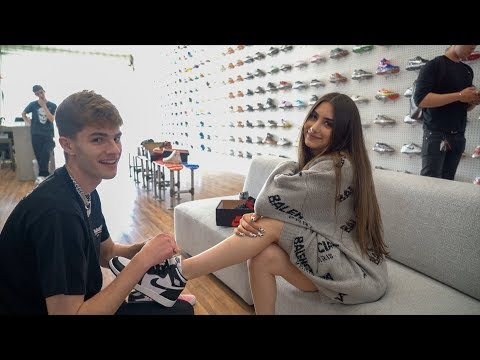 HE TOOK ME HYPEBEAST SHOE SHOPPING | Nicolette Gray