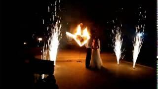 Сердце, фонтаны,салют на свадьбу mp4