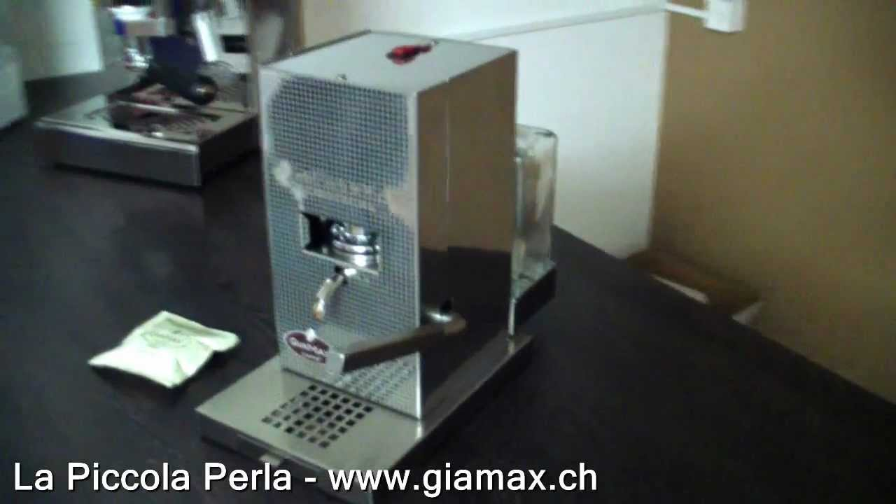 Kaffeemaschine La Piccola Piccola Perla Kaffeepads GiaMax  -> Kaffeemaschine Italien