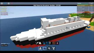 ROBLOX Build: Titanic I Build A Boat And Sail Game I Boat Deck & Stern I Part 4