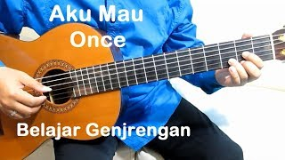 (Genjrengan) Once Aku Mau - Belajar Gitar Strumming Untuk Pemula