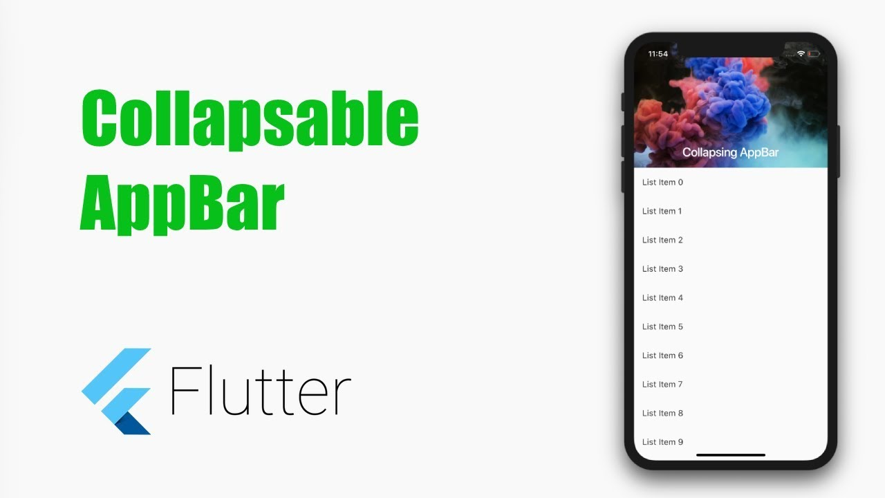 Collapsing AppBar in Flutter – Android and iOS – MOBILE