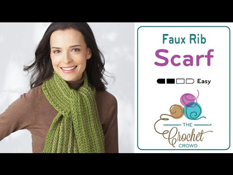 How to Crochet A Scarf: Rib Scarf